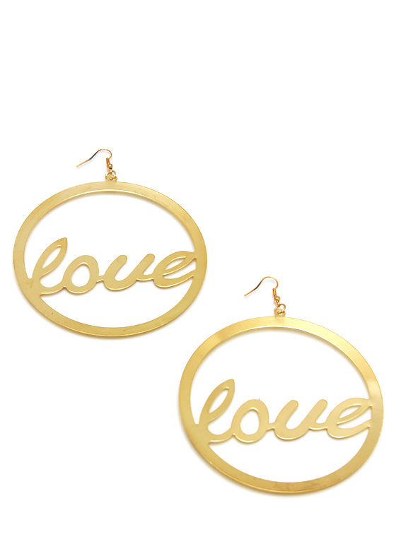 Spread The Love Oversized Earrings GOLD