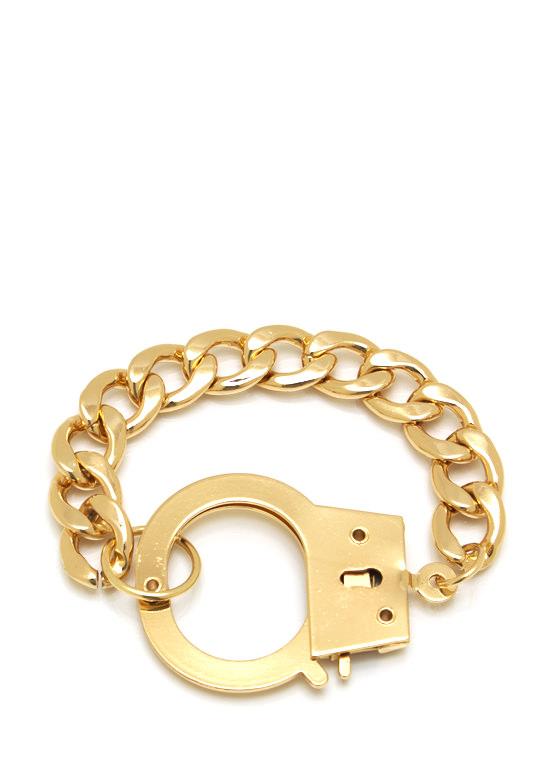 Wanted Handcuff Bracelet GOLD