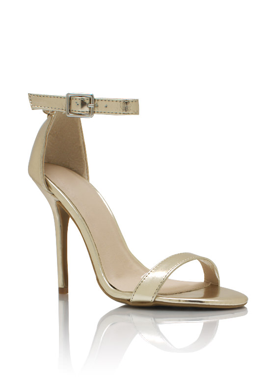 Metallic Single Sole Heels GOLD