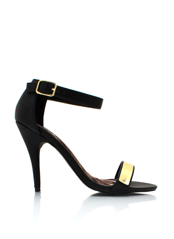Plated Single Sole Heels BLACK