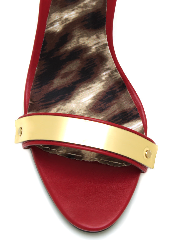 Plated Single Sole Heels RED
