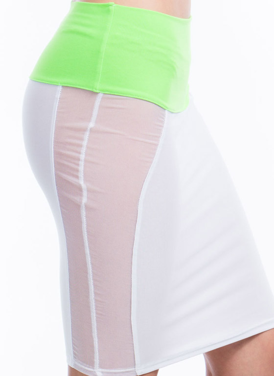 Block Party Mini Skirt WHITE