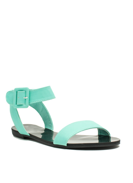 Big Buckles Dont Lie Sandals MINT