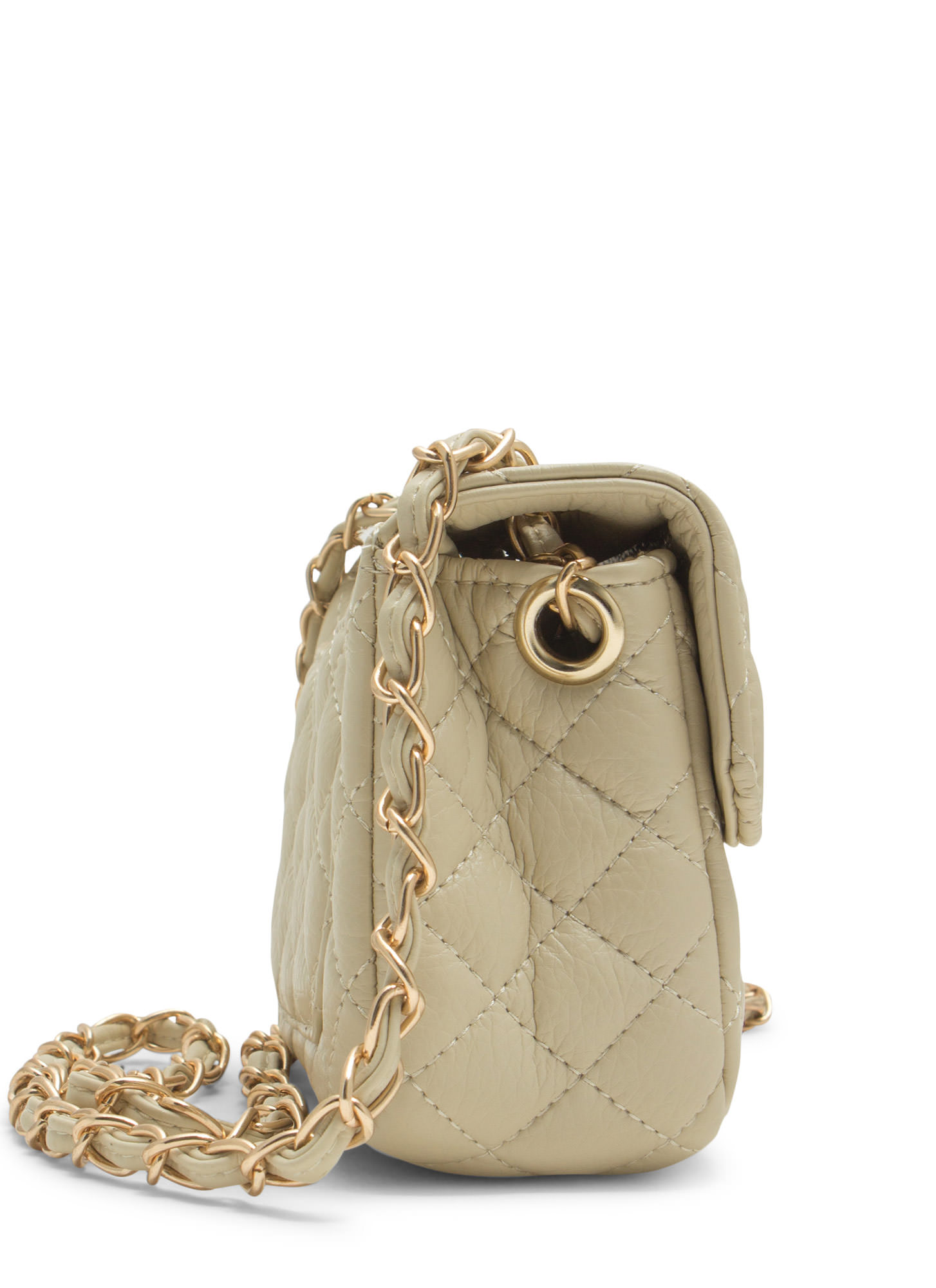 Quilty Pleasures Clutch BEIGE