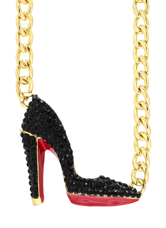 Over The Heel Necklace GOLDBLACK