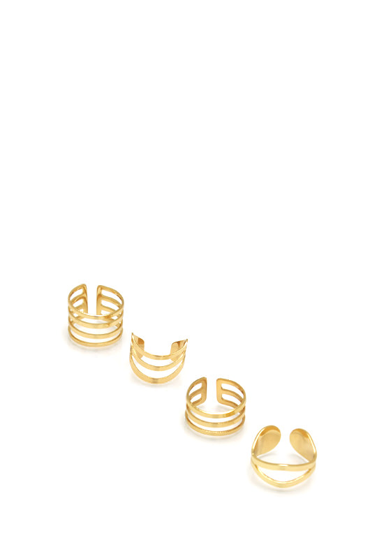 Cut Out Ring Set GOLD