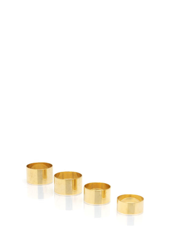 Metal Mania Ring Set GOLD