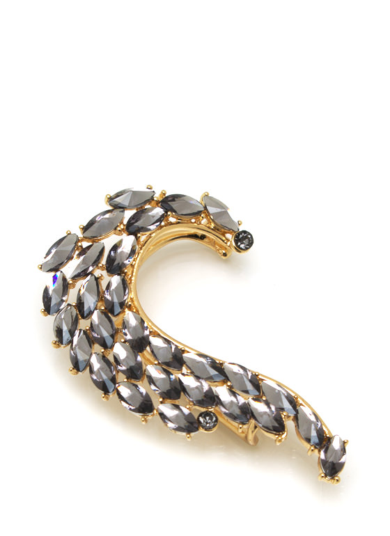 Jeweled Wave Ear Cuff PEWTERGOLD