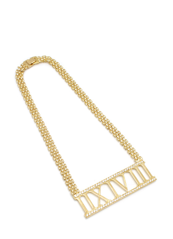 When In Rome Numeral Necklace GOLD