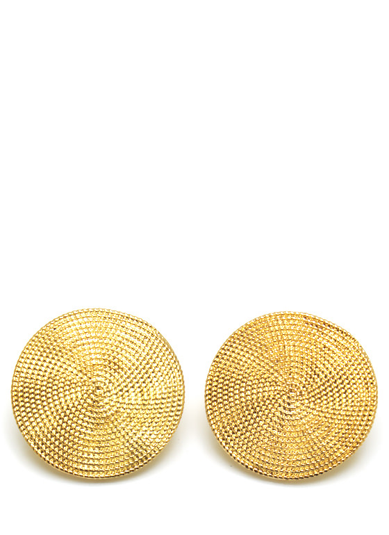 Textured Gong Earrings GOLD
