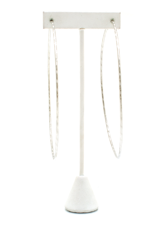 Totally Twisted Oversized Hoops SILVER