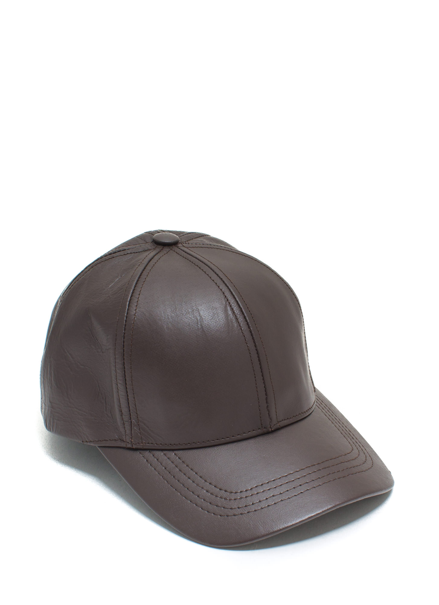 Leather Lady Baseball Cap BROWN