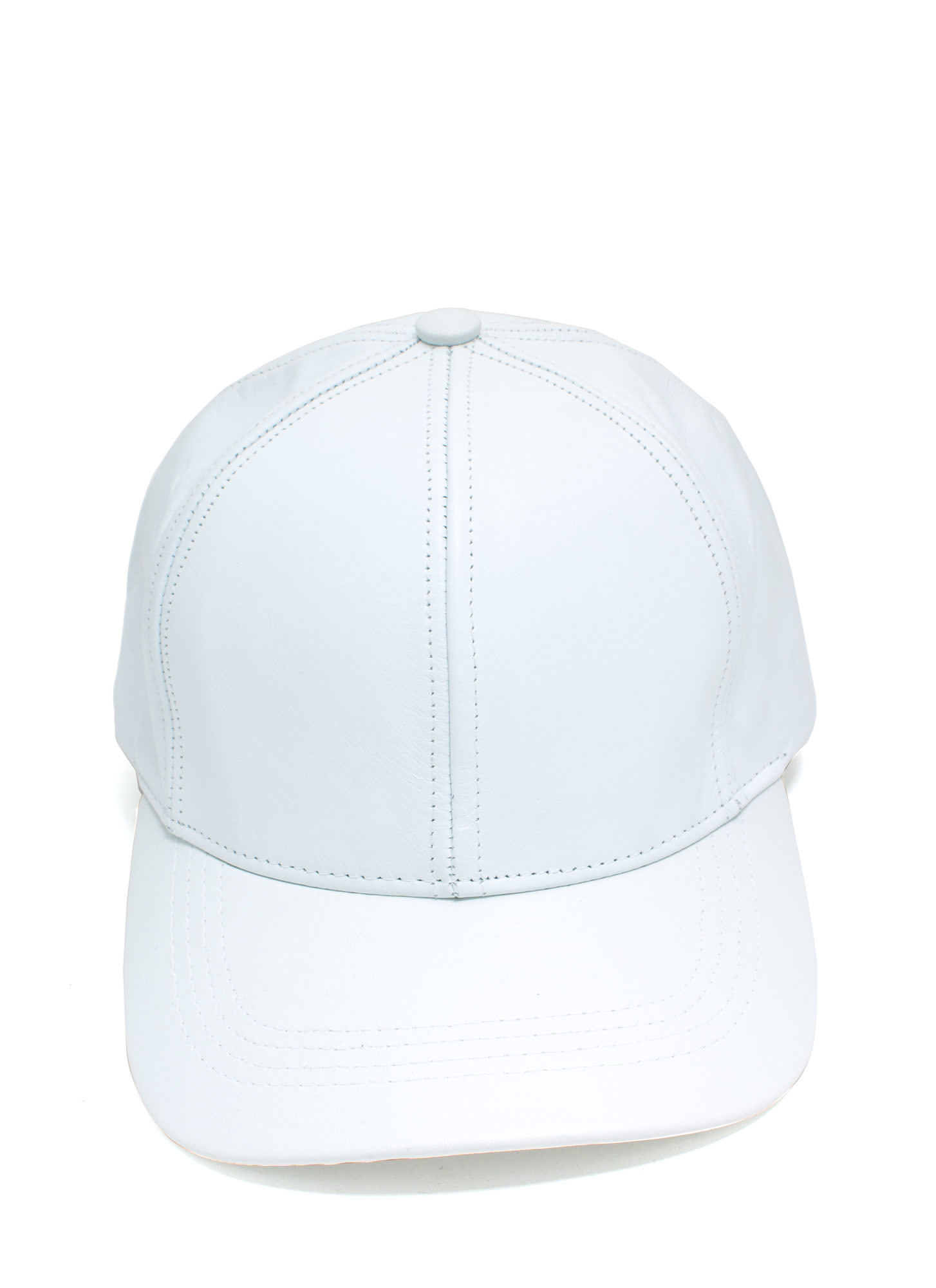 Leather Lady Baseball Cap WHITE