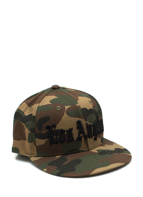 City Of Angels Camo Snapback OLIVEBLACK