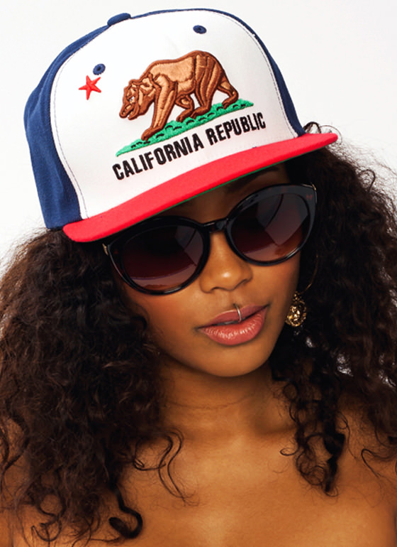 The Golden State Snapback NAVYRED