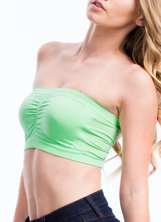 Ruched Bandeau PASTELGREEN