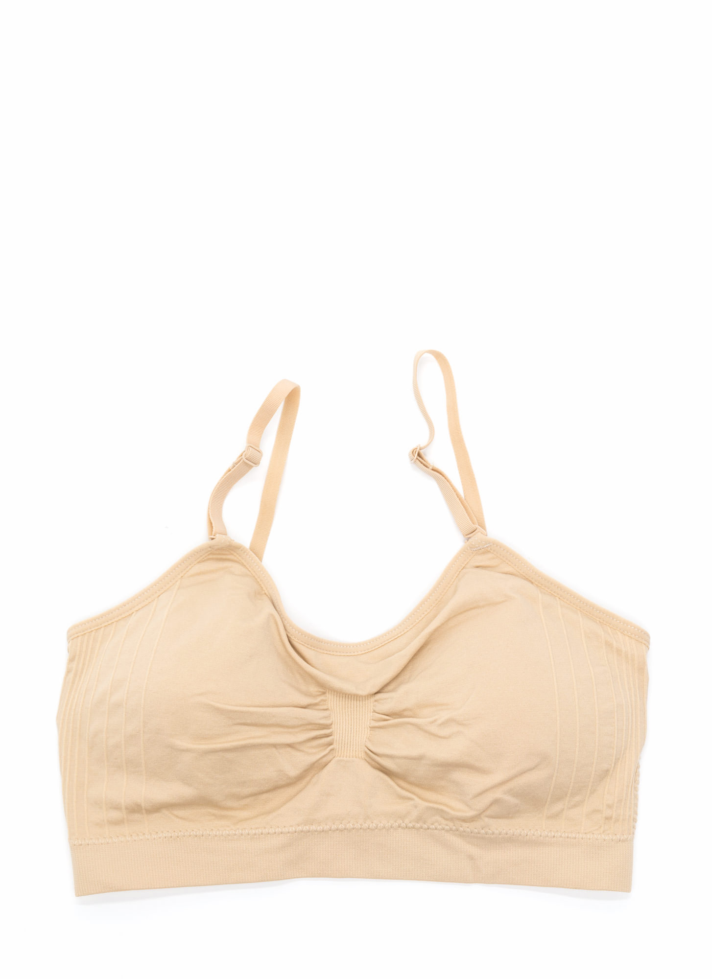 I Was Born Ready Ruched Bralette BEIGE