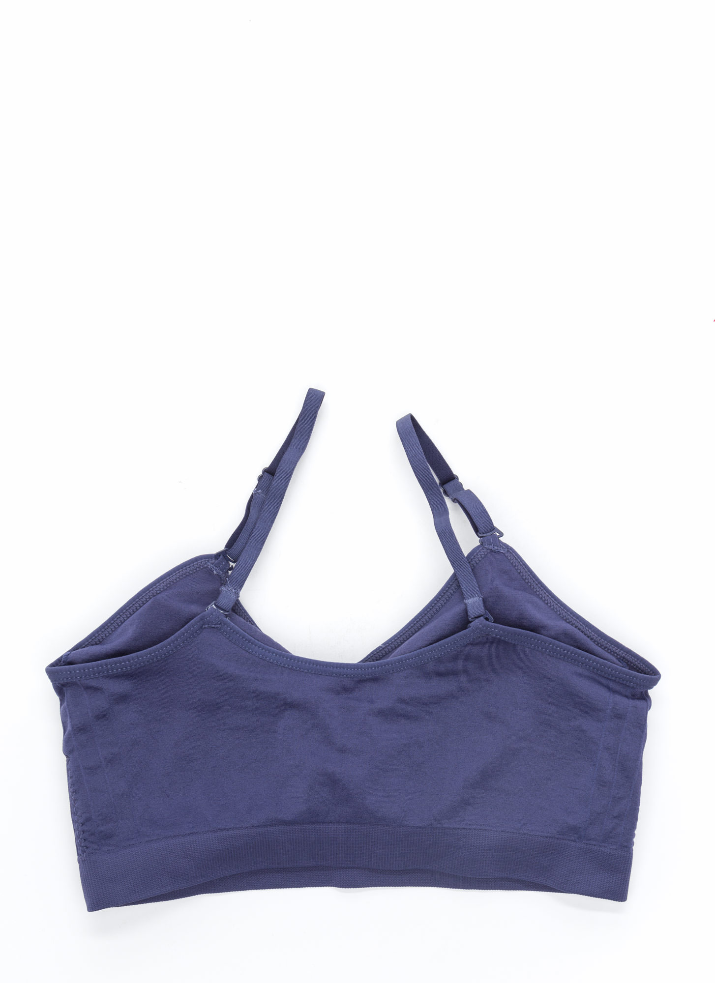 I Was Born Ready Ruched Bralette BLUE