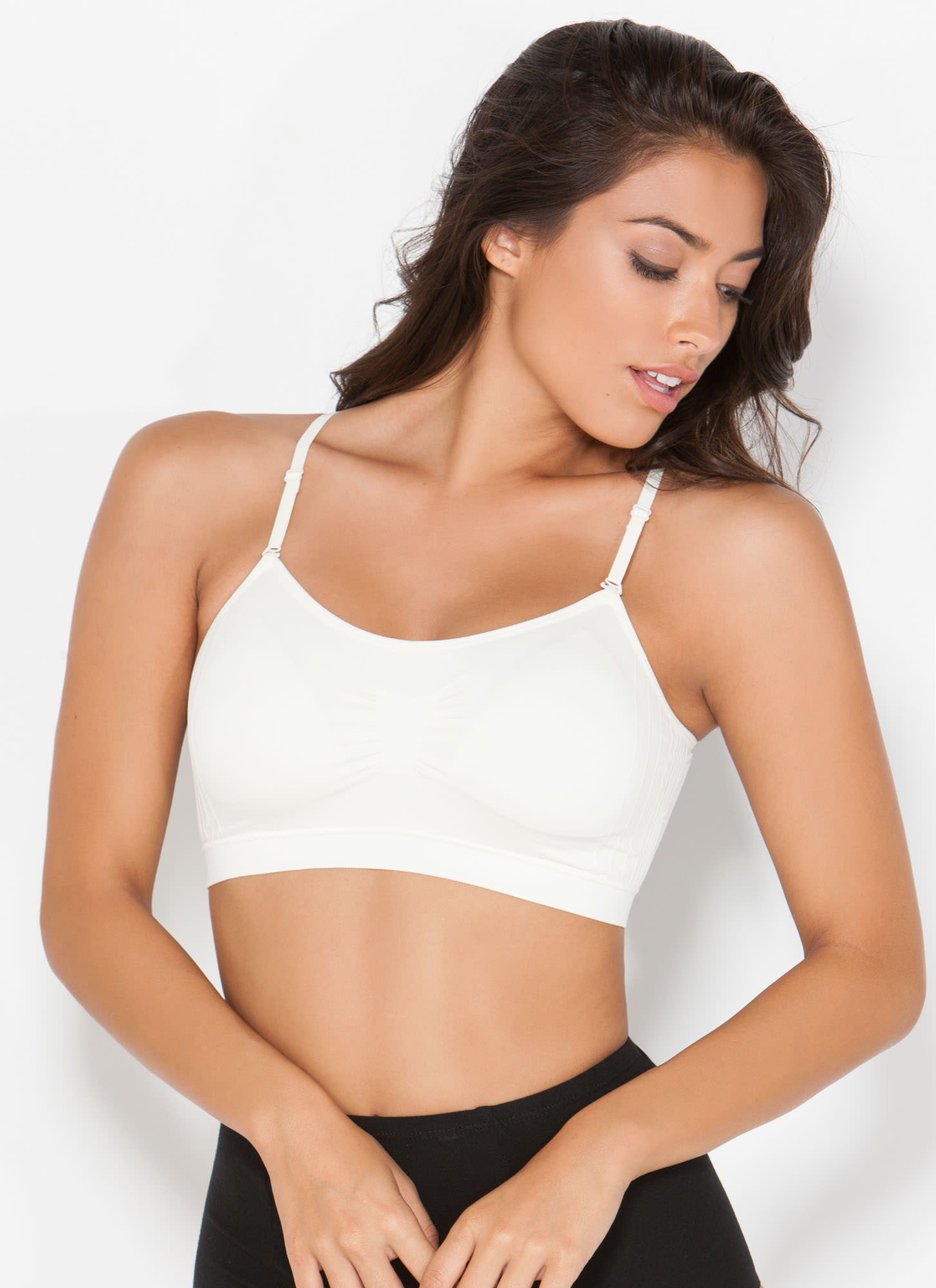 I Was Born Ready Ruched Bralette IVORY