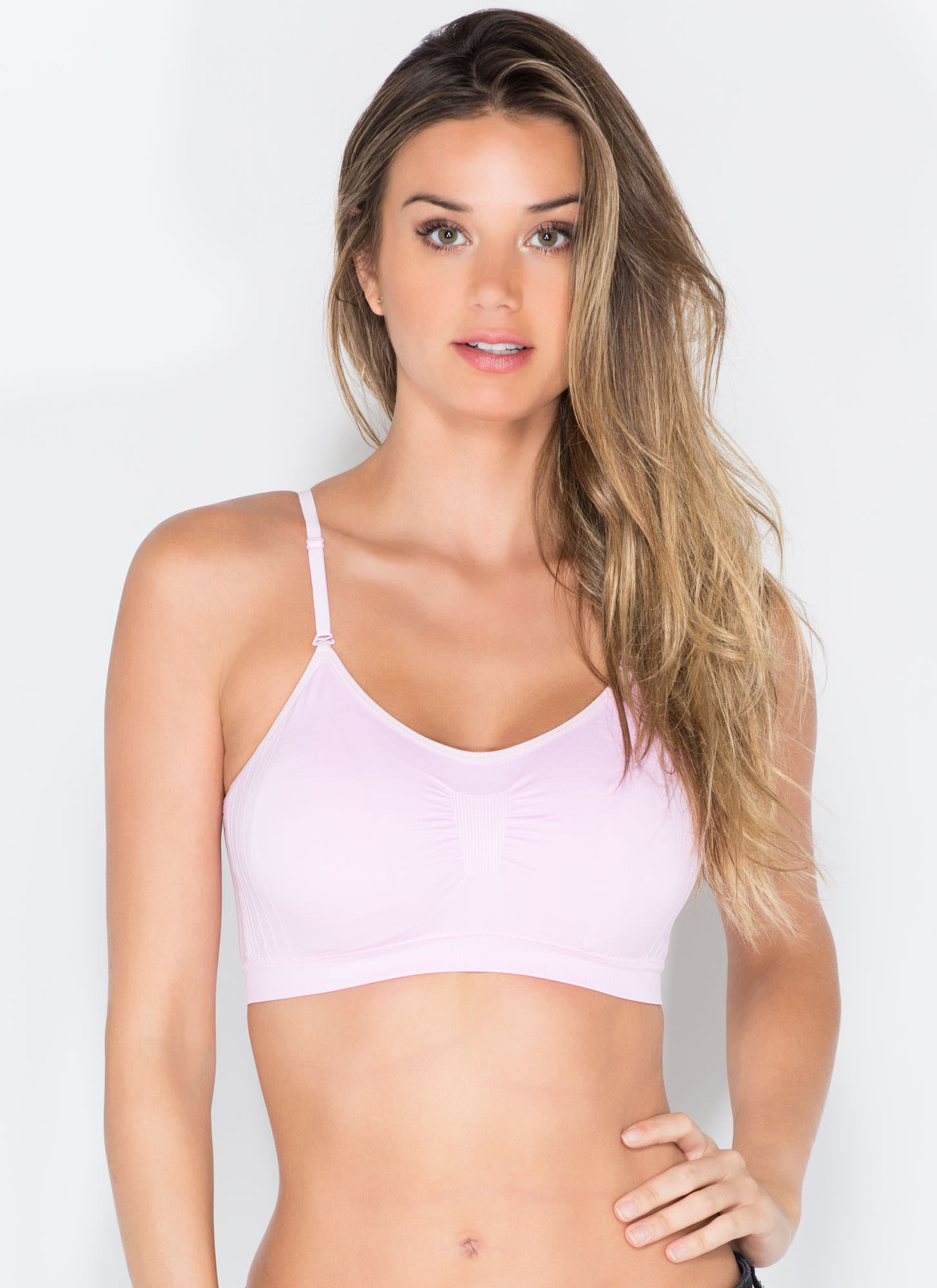 I Was Born Ready Ruched Bralette LTPINK