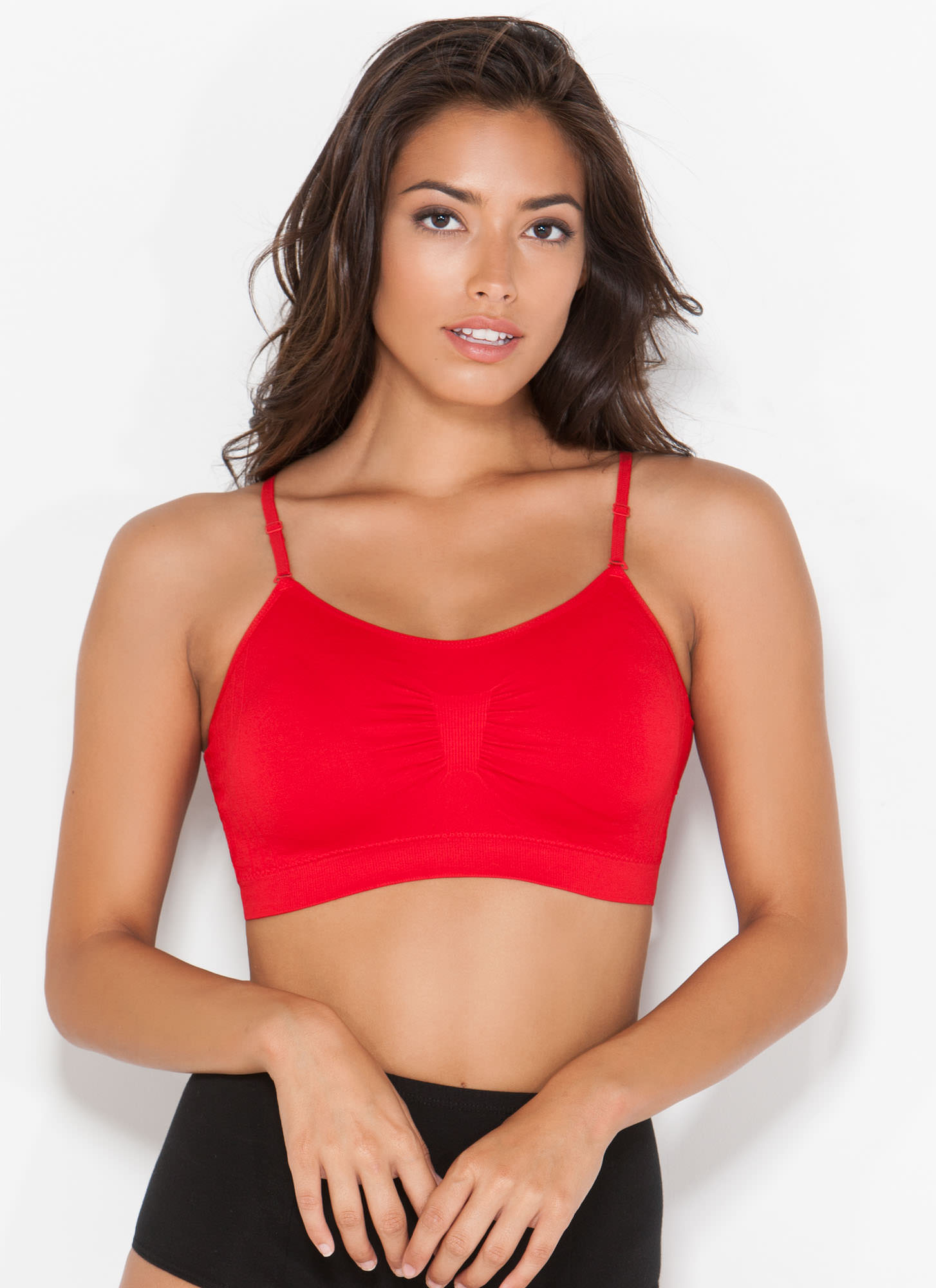 I Was Born Ready Ruched Bralette RED