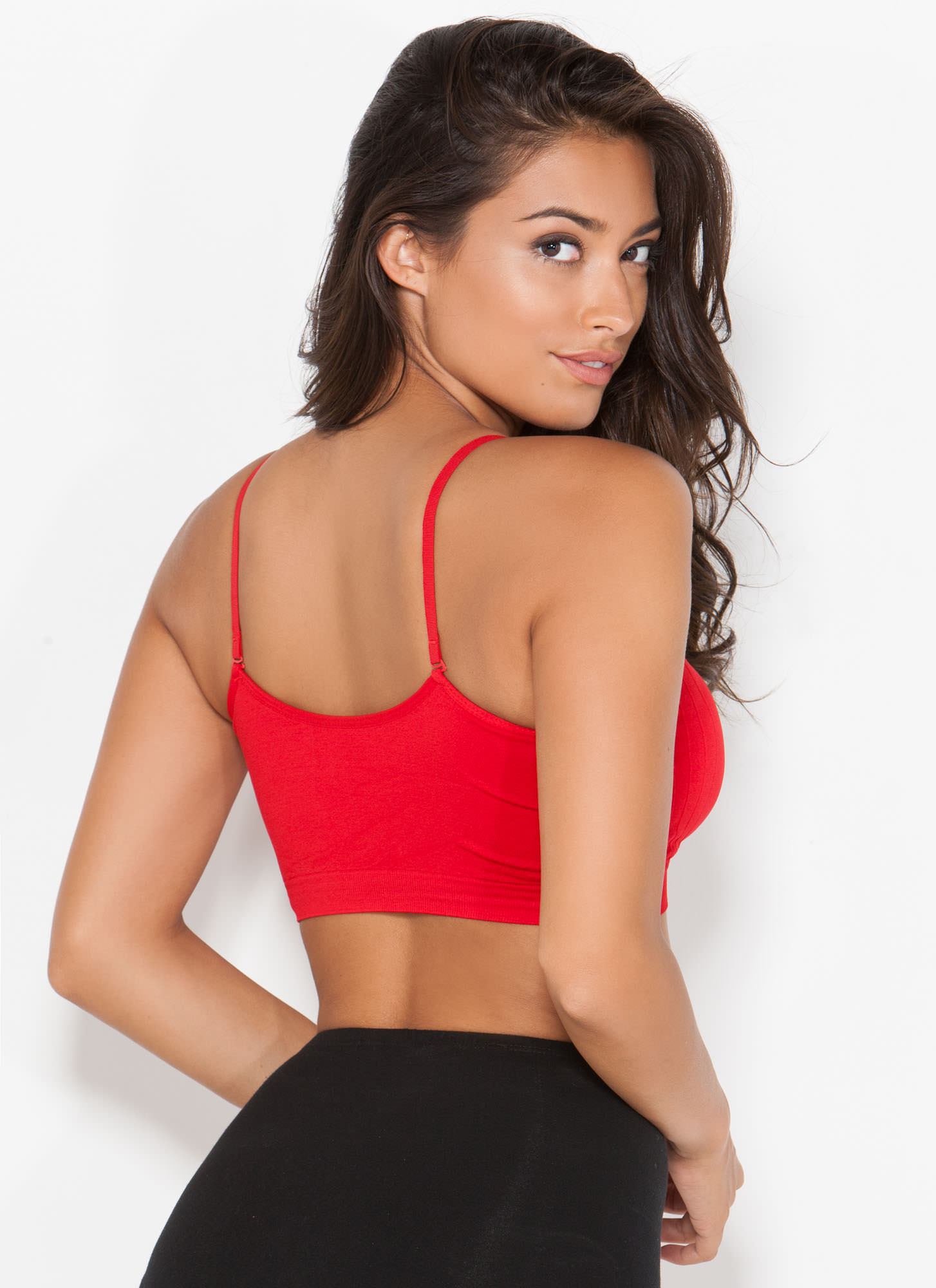 Ruched Bralette RED