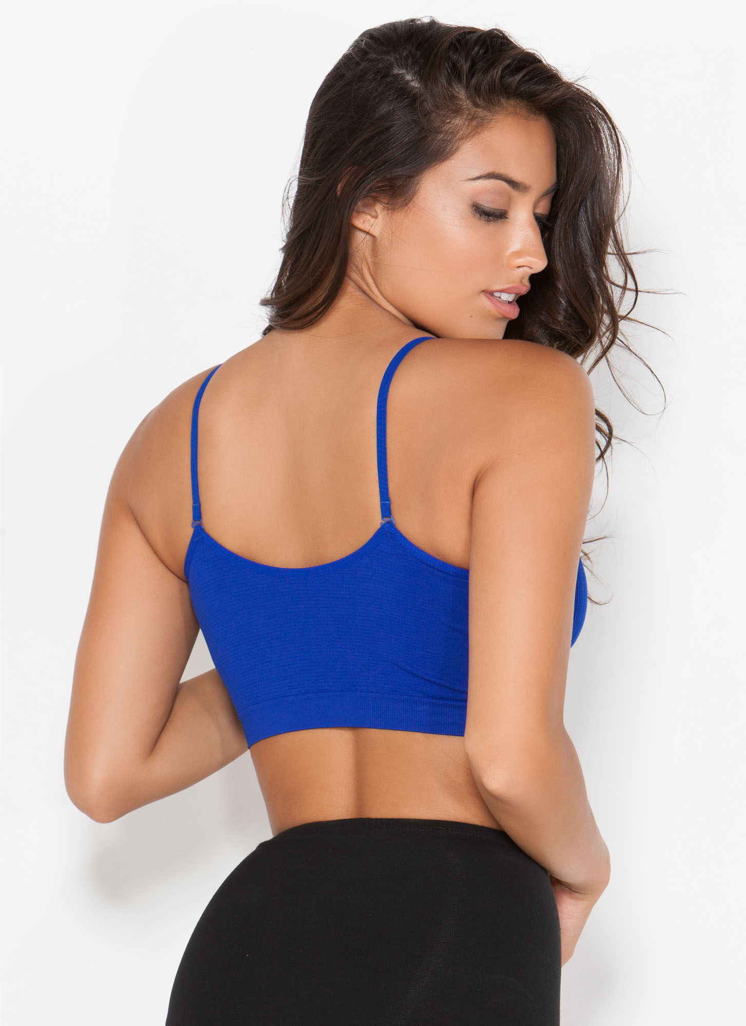 I Was Born Ready Ruched Bralette ROYAL