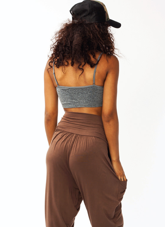 Ruched Bralette GREY