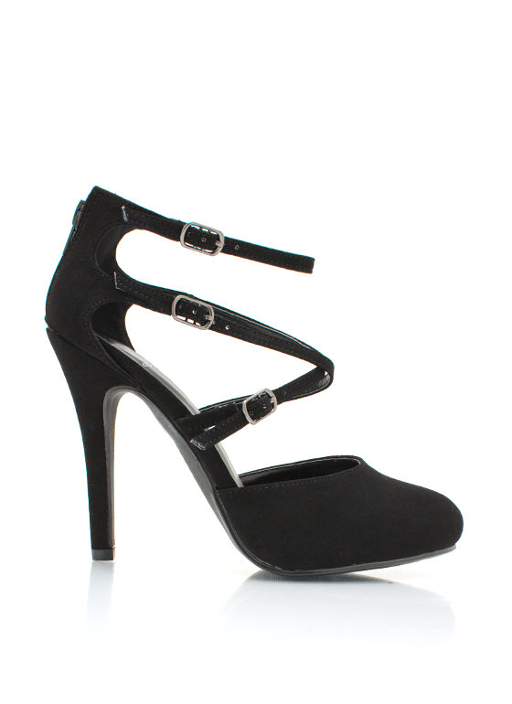 Dont Crisscross Me Pumps BLACK