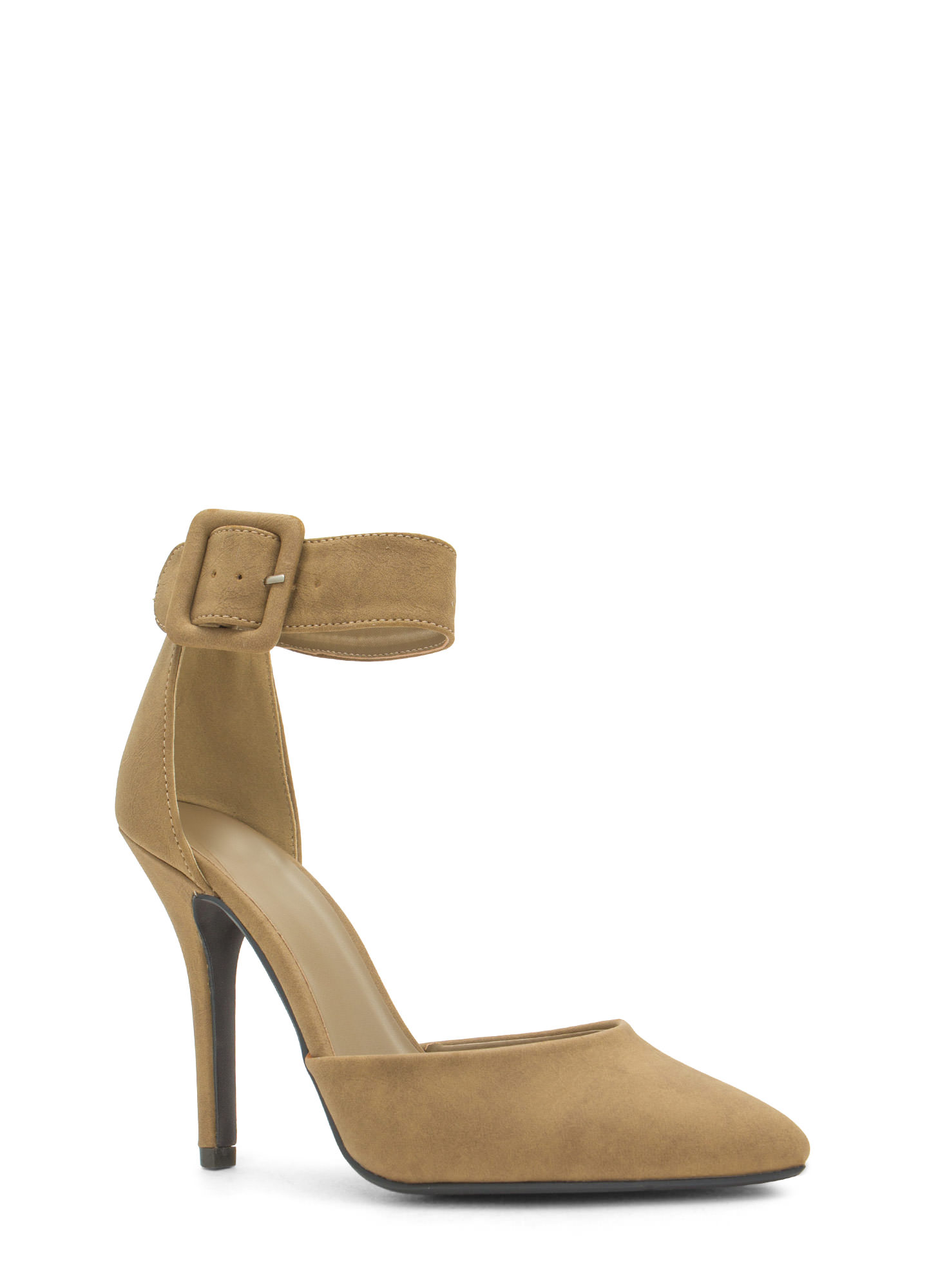Point The Way Buckle Pumps TAN