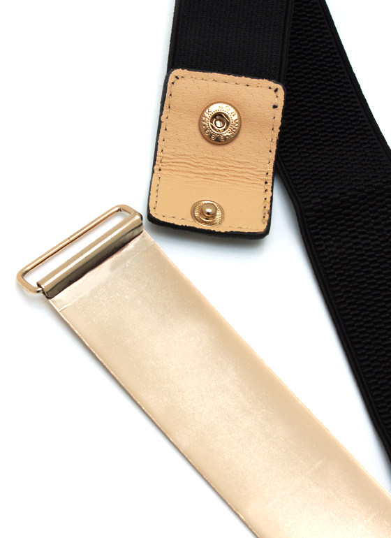Metal Mania Plate Belt BLACKGOLD