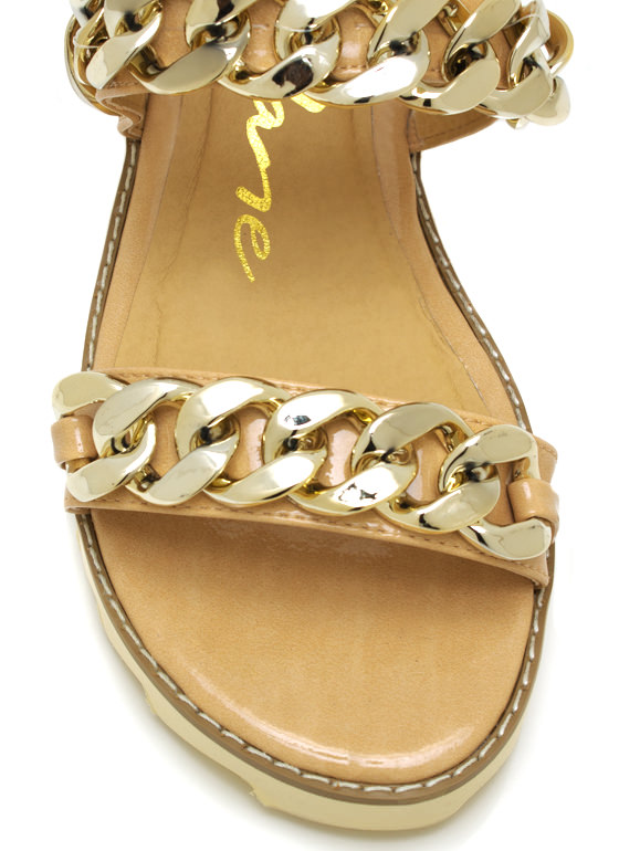 2 Chains Jagged Sandals NUDE
