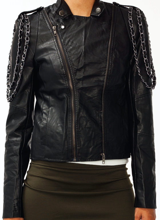 Off The Chain Moto Jacket BLACK