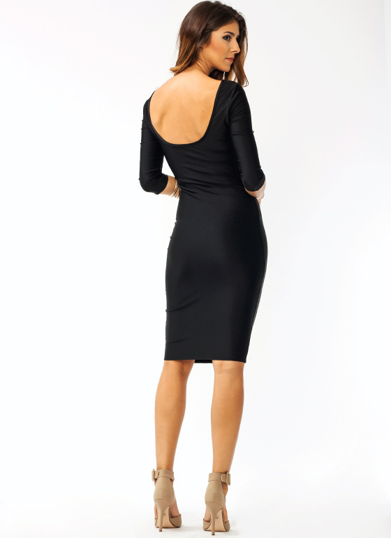 What's The Scoop Dress BLACK
