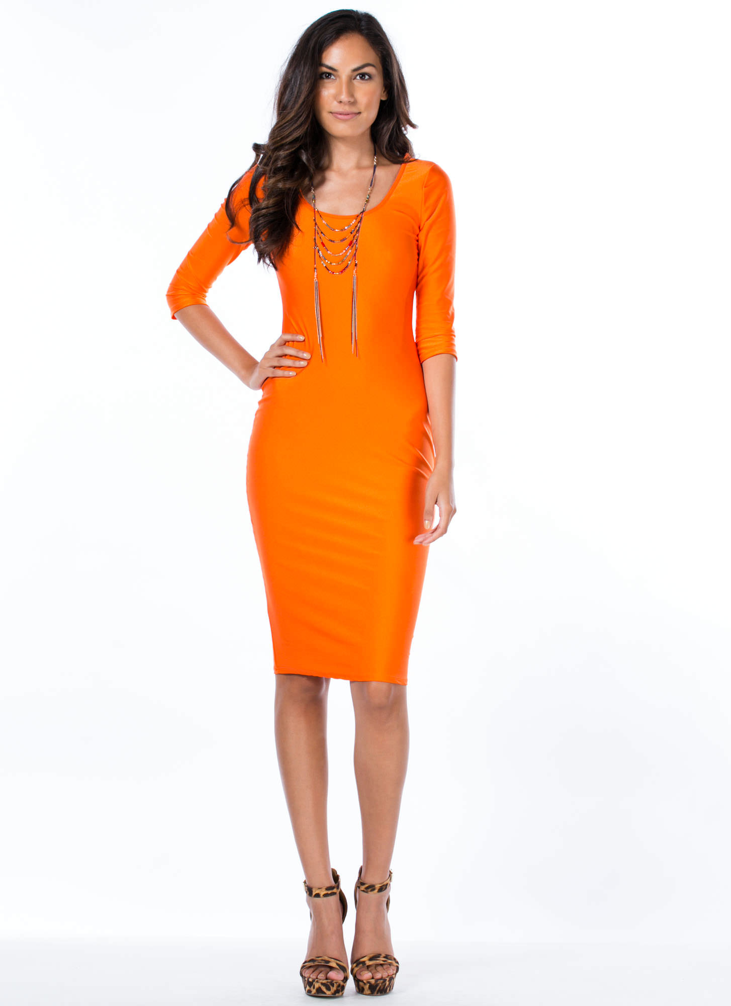 What's The Scoop Dress ORANGE
