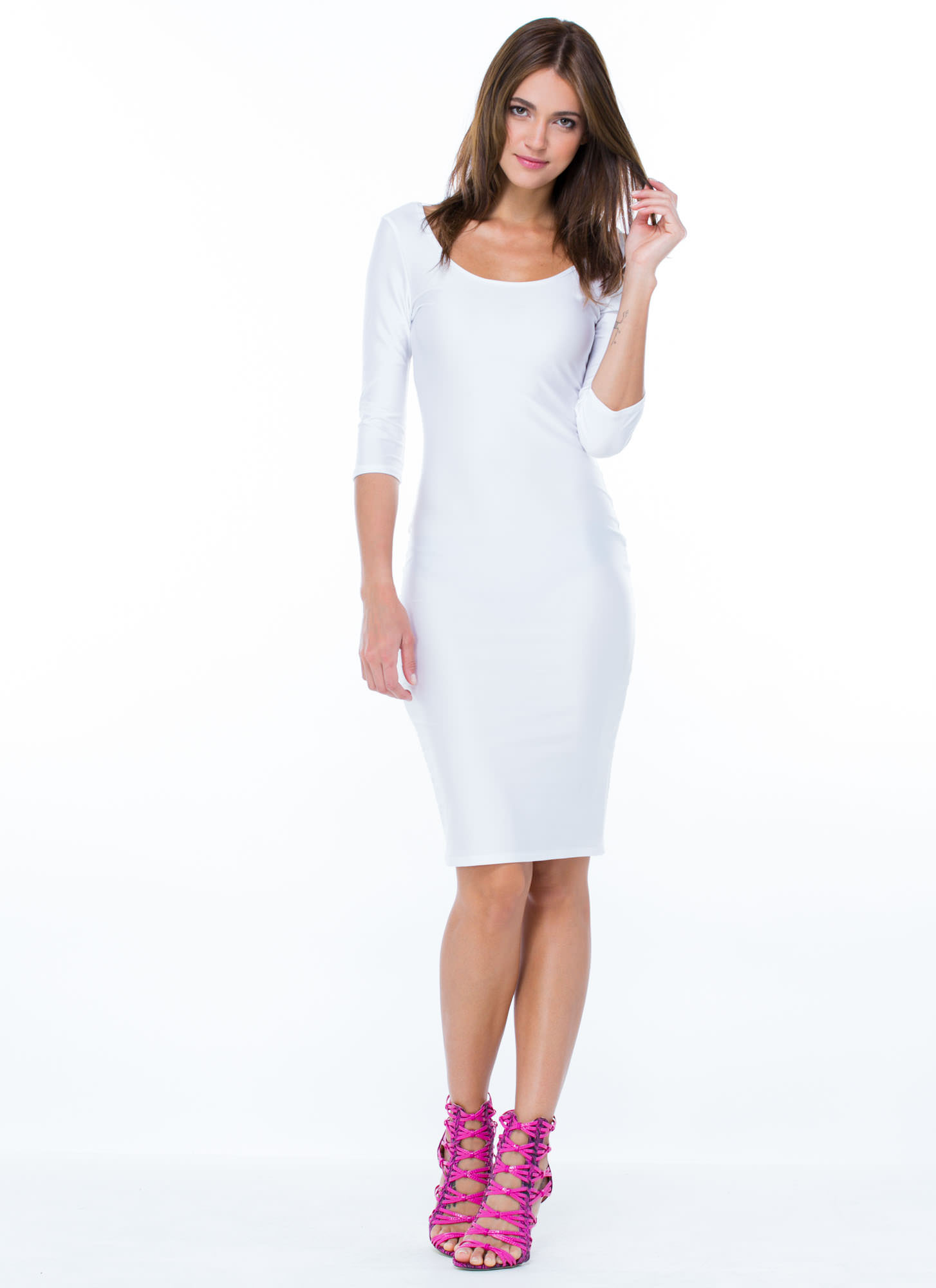 What's The Scoop Dress WHITE