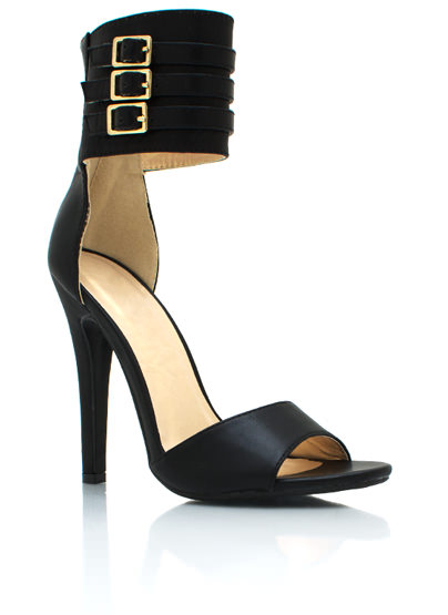 Ankle Wrapped Heels BLACK