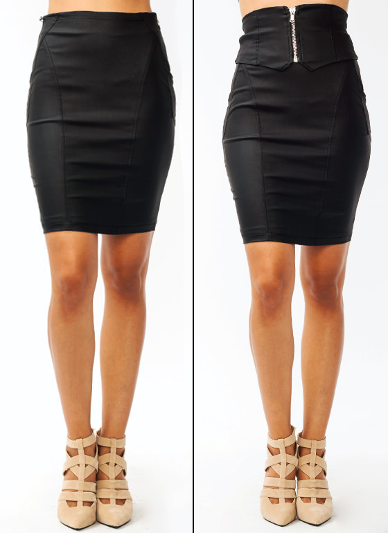 Zippy Chick Pencil Skirt BLACK