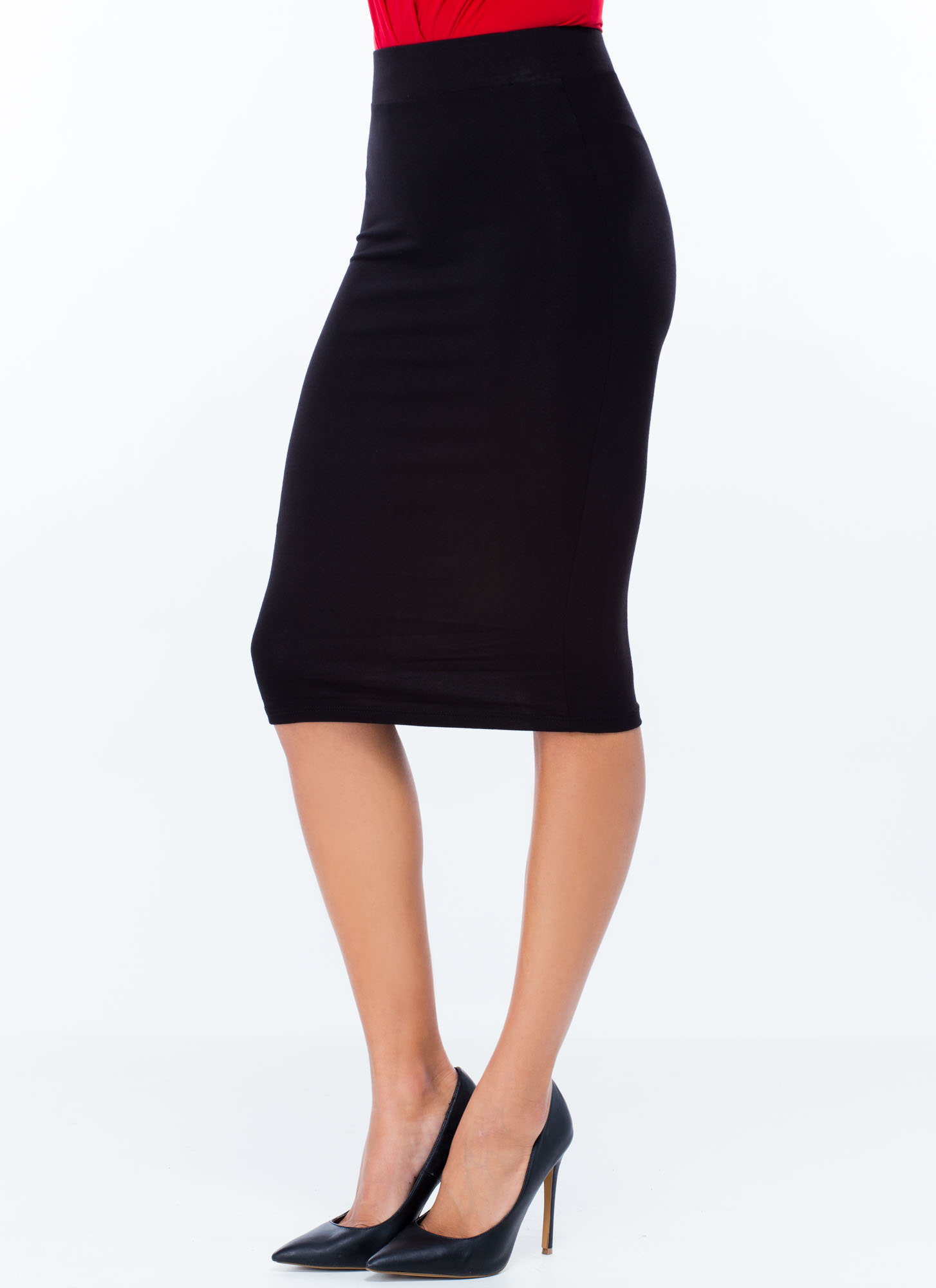 Anywhere Anytime Pencil Skirt BLACK