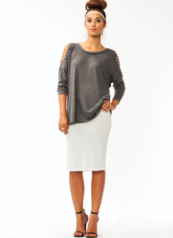 Anywhere Anytime Pencil Skirt IVORY