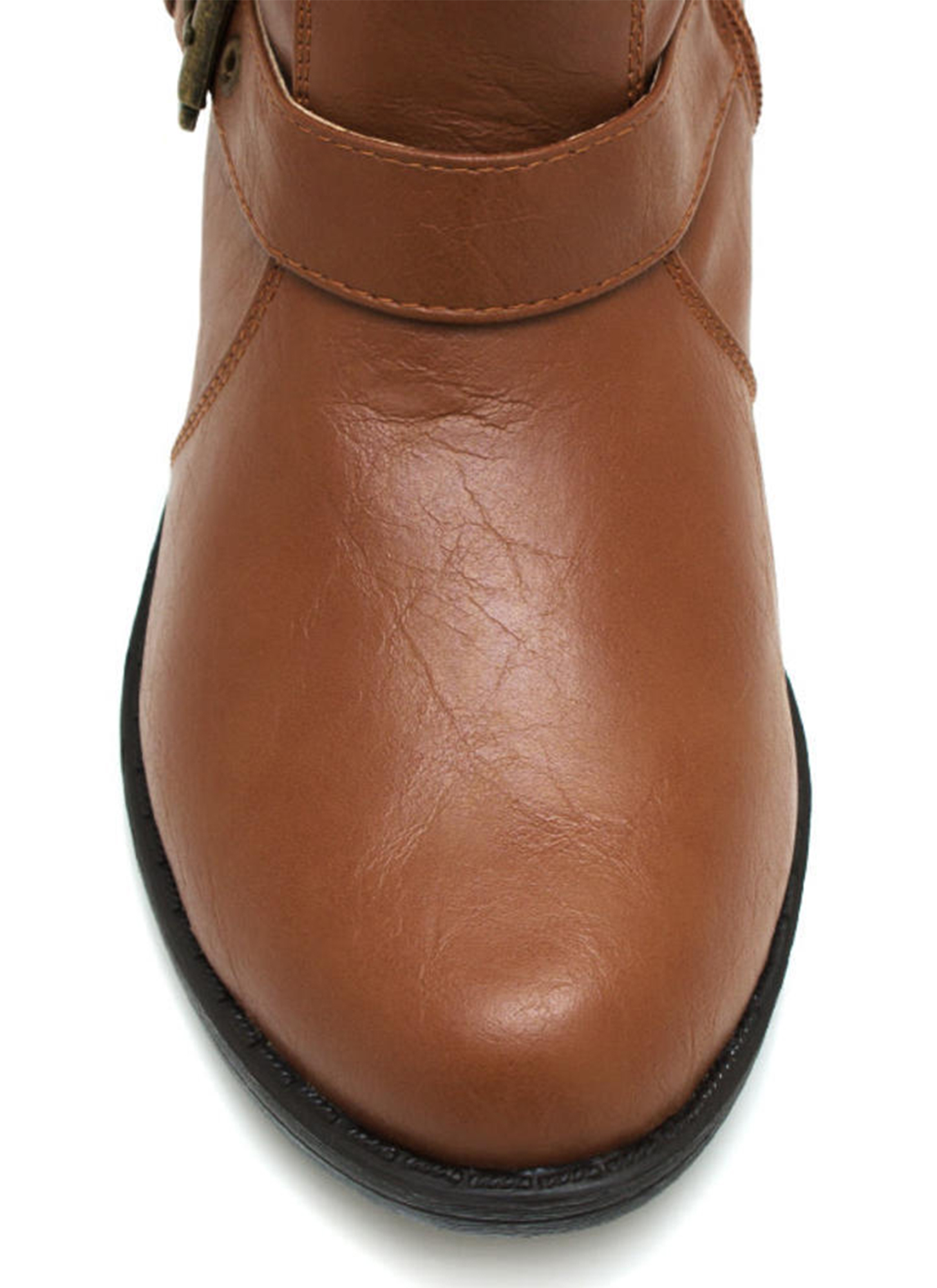 Tri Buckle Riding Boots CHESTNUT