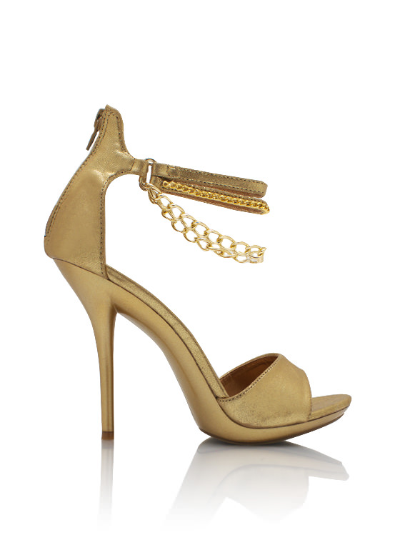 2 Chains Shimmery Heels GOLD