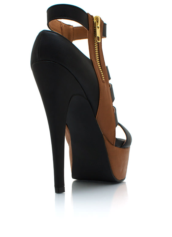 Triple Ladder Heels BLACK