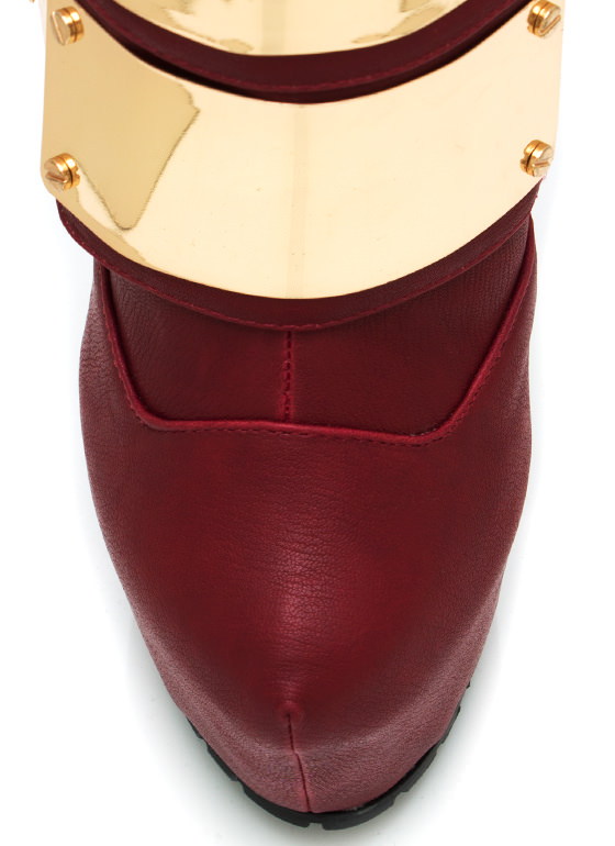 Triple Threat Booties RED