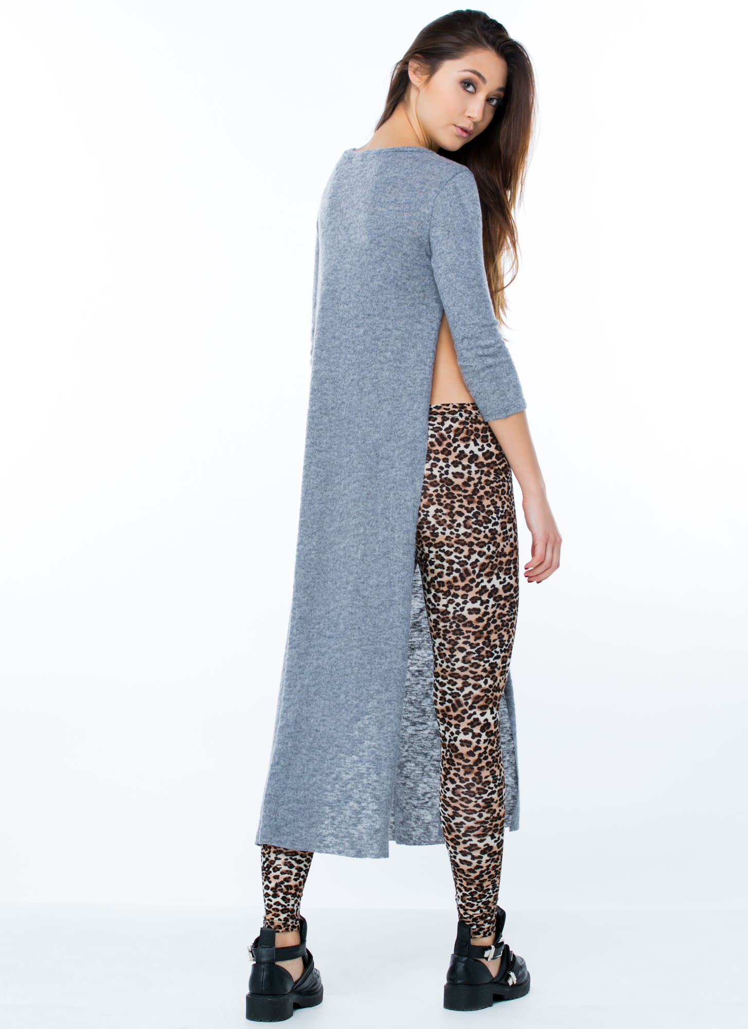 Speckled Leopard Leggings BROWNLEO (Final Sale)