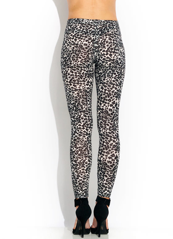 Speckled Leopard Leggings GREYLEO