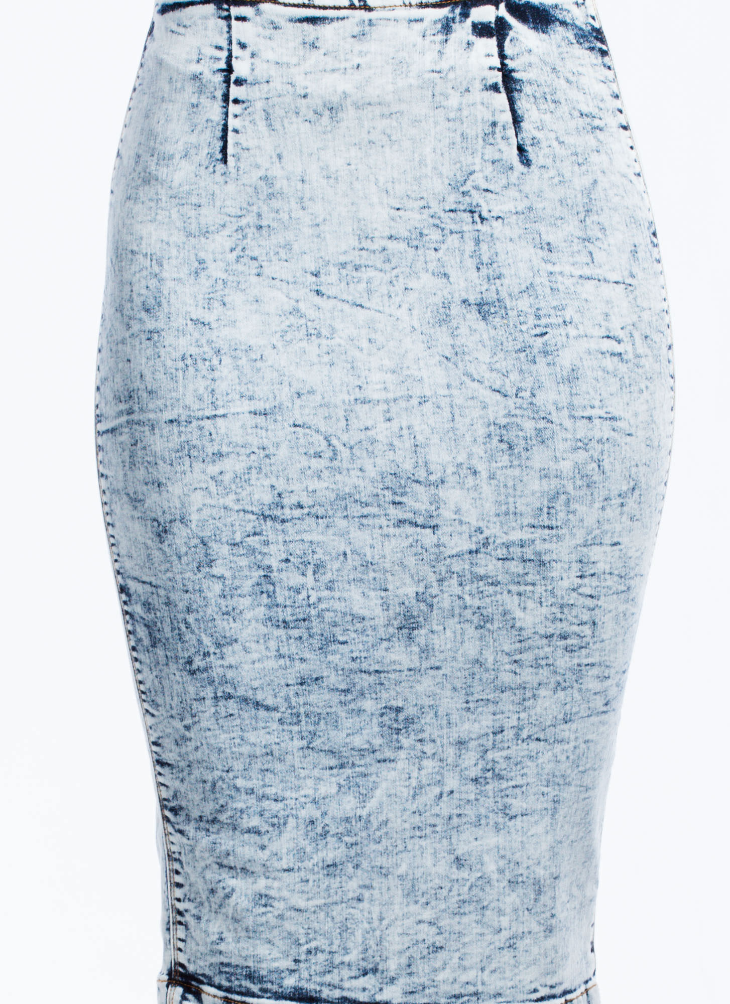 Denim Pencil Skirt LTBLUE