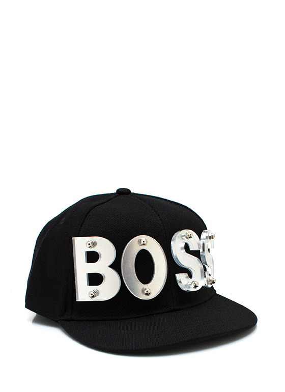 Bossed Up Snapback BLACKSILVER
