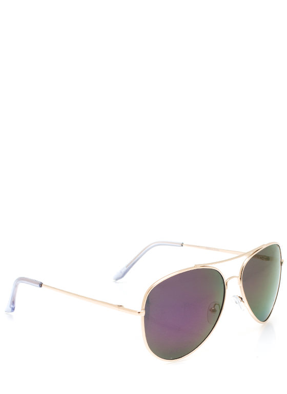 De Colored Sunglasses PURPLEGOLD