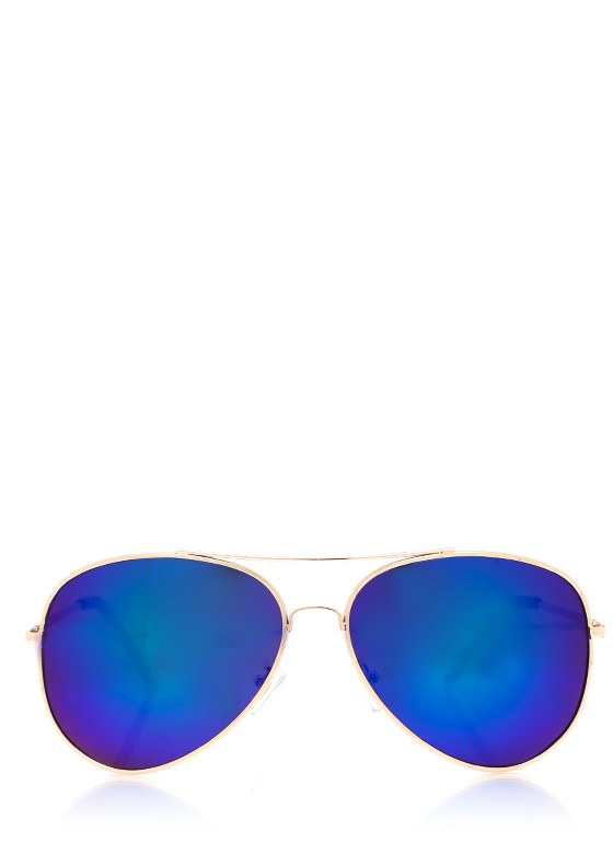 De Colored Sunglasses TEALGOLD
